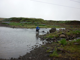 Iceland first ford crossing